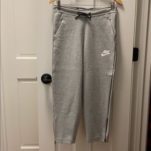 Nike joggers, size small, high rise, zip detail